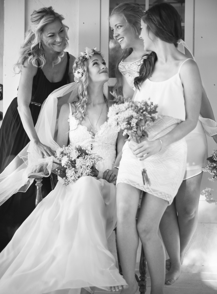 Bridesmaids Getting Ready for the Big Day